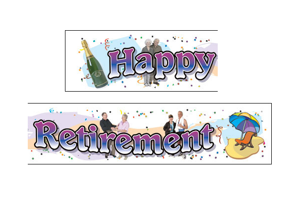 GIANT BANNER - HAPPY RETIREMENT - 5 Left Only!