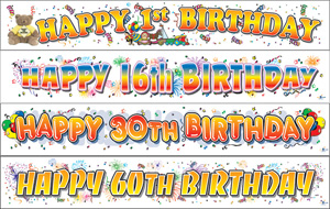 GIANT BIRTHDAY BANNERS