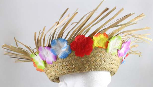 BEACHCOMBER STRAW HAT WITH FLOWERS