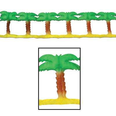 PALM TREE PAPER GARLAND