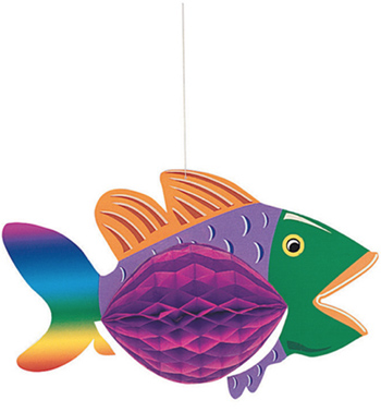 HANGING HONEYCOMB FISH - MEDIUM