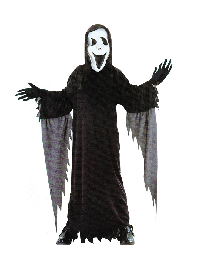 CHILD'S BLACK HORROR GHOUL COSTUME