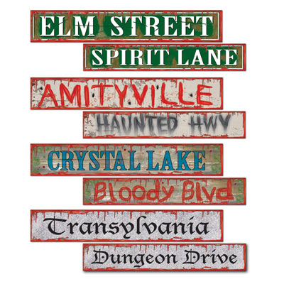 HALLOWEEN STREET SIGNS - PACK OF 4