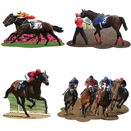 HORSE RACING CUT OUTS - PACK 4