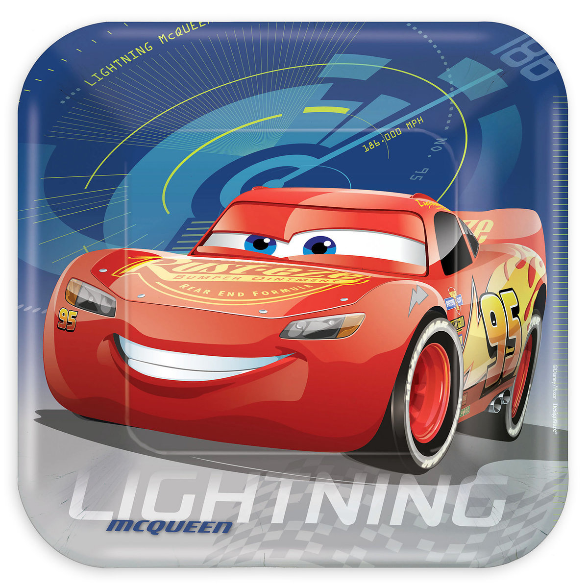 CARS 3 - PARTY PLATES PACK OF 8