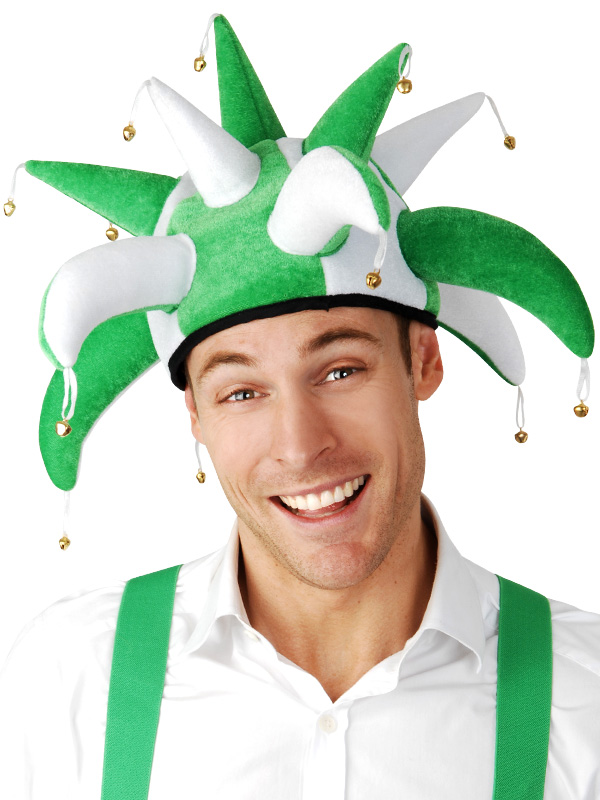 IRISH GREEN JESTER HAT