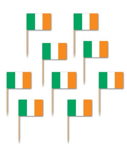 Image of Irish Flag Tooth Picks Pack Of 50