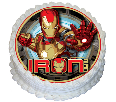 AVENGERS - ROUND EDIBLE ICING IMAGE