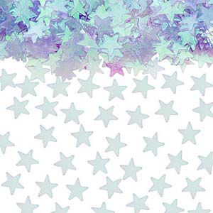 TABLE SCATTERS - PALE BLUE STARS