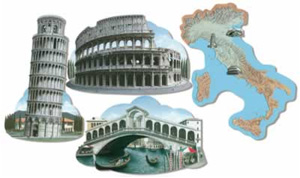 ITALIAN SCENES & MAP CUT OUTS