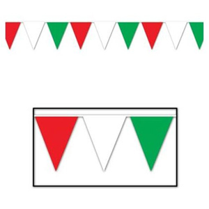 ITALIAN/MEXICAN OUTDOOR PENNANT BANNER - LARGE