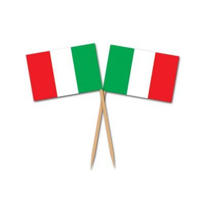 Image of Italian Flag Picks Box Of 500