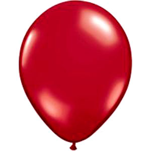 BALLOONS LATEX - RUBY RED JEWEL TONE PROFESSIONAL PK 25