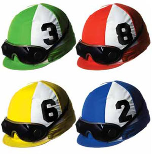 JOCKEY HELMET CUTOUTS - PACK 4