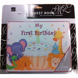 UNISEX 1ST BIRTHDAY GUEST BOOK & PHOTO MEMORY BOOK
