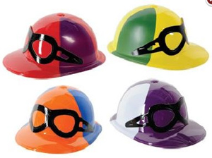 JOCKEY CAP PLASTIC IN ASSORTED DESIGNS