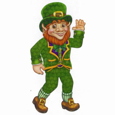 ST PATRICK'S DAY JOINTED LEPRECHAUN