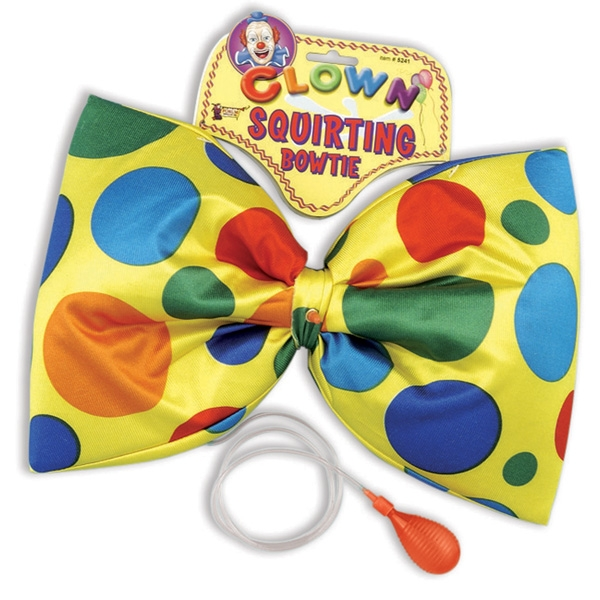 JUMBO SIZE SQUIRTING CLOWN BOW TIE