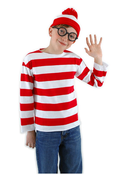 WHERE'S WALLY RED & WHITE STRIPED SHIRT FOR KIDS