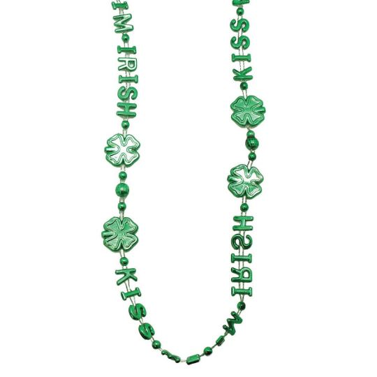ST PATRICK'S DAY 'KISS ME I'M IRISH' BEADS