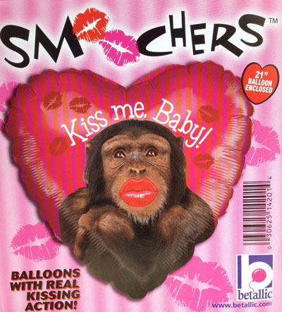 FOIL SUPER SHAPE BALLOON - KISS ME BABY WITH REAL KISSING ACTION