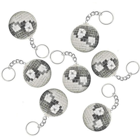 PARTY FAVOURS - DISCO BALL KEY RING