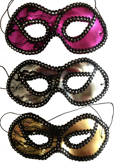 MASK - 1/2 LACE AVAILABLE IN 2 COLOURS