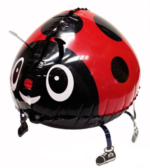 WALKING PET BALLOON - LADY BUG 76CM