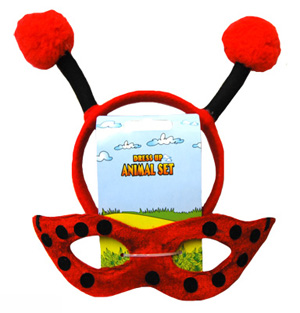 HEADBAND & MASK SET - LADY BUG