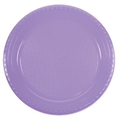 DISPOSABLE DINNER PLATE - LAVENDER PACK OF 25