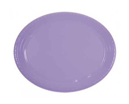 DISPOSABLE PLATES LARGE OVAL - LAVENDER PACK OF 25