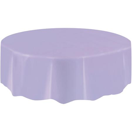 DISPOSABLE TABLECOVER - CIRCULAR LAVENDER