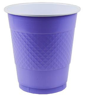 DISPOSABLE CUPS TWO TONE LAVENDER - PACK OF 20