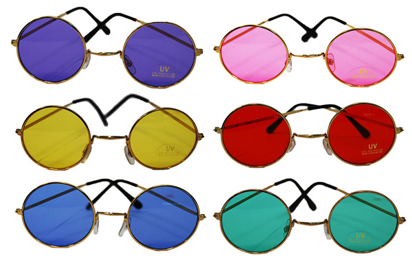 LENNON TYPE COLOURED GLASSES