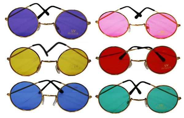 Image of Lennon Type Coloured Glasses