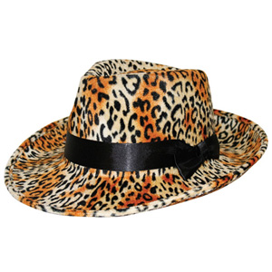 ANIMAL/ LEOPARD SKIN PRINT HAT