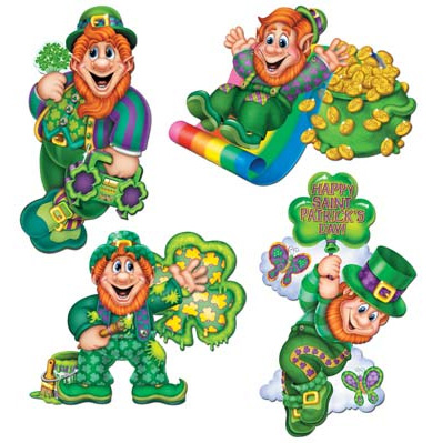 Image of St. Patrick's Day Cutouts  4 Leprechauns