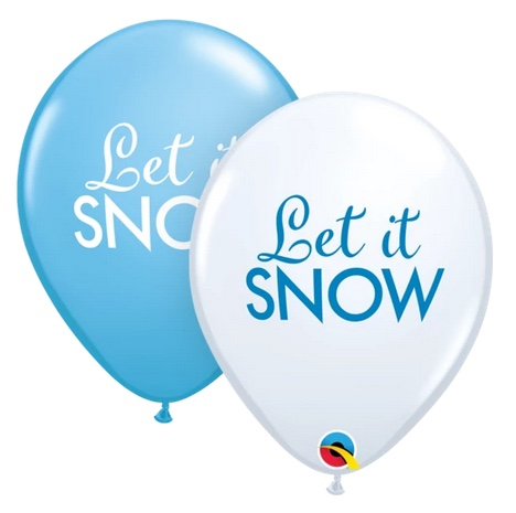 BALLOONS LATEX - 'LET IT SNOW' PACK 25