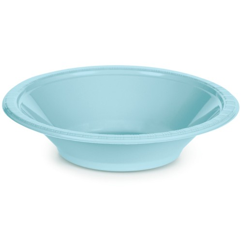 DISPOSABLE DESSERT OR SNACK BOWL PALE BLUE - PACK OF 25