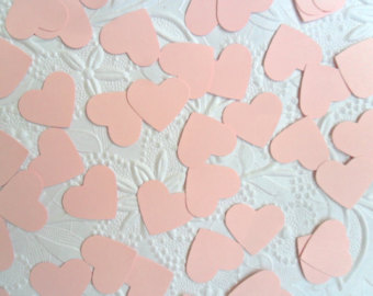 TABLE SCATTERS - PALE PINK HEARTS