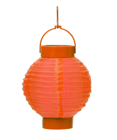 CHINESE PAPER HALLOWEEN L.E.D LANTERN 20CM - ORANGE