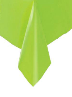 DISPOSABLE TABLECOVER - LIME RECTANGULAR
