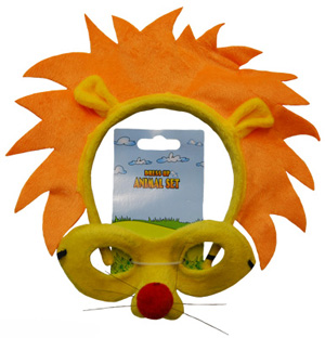 HEADBAND & MASK SET - LION