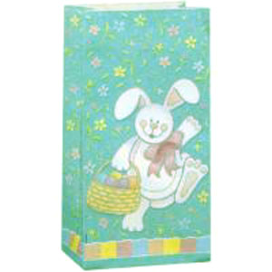 LOOT BAGS - EASTER BUNNY PAPER PACK 10