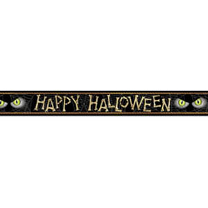 HAPPY HALLOWEEN SCARY EYES BANNER