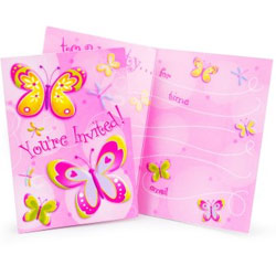 DRAGONFLY & BUTTERFLY PARTY INVITATIONS