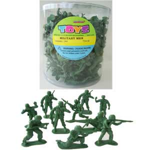 ARMY MILITARY MEN CANNISTER OF 144