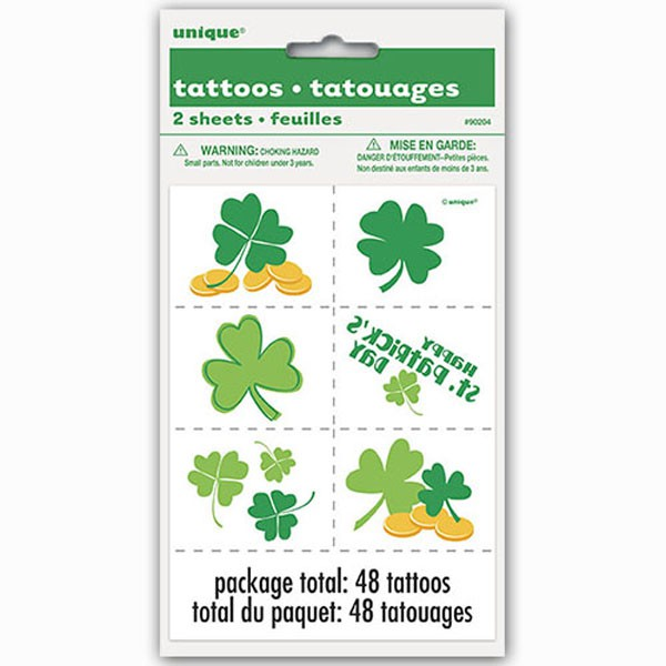 ST PATRICK\'S DAY IRISH TEMPORARY TATTOOS