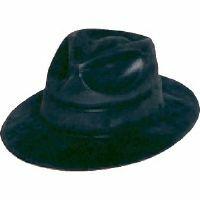 Image of Gangster Hat  Black Plastic Felt Feel
