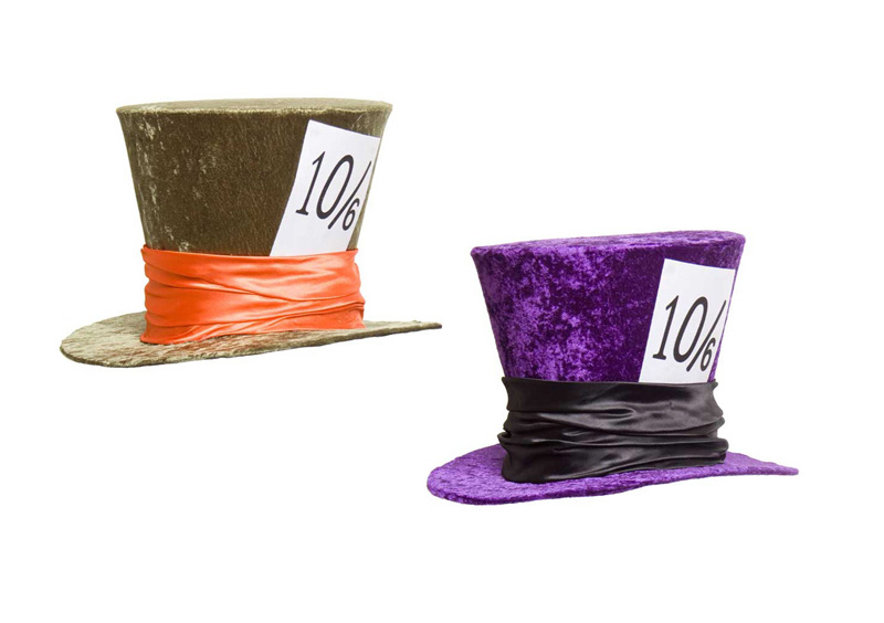MAD HATTER HAT - GREEN OR PURPLE